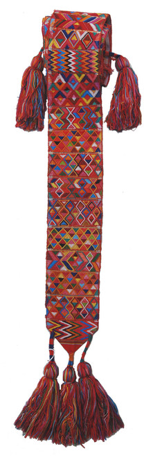 "Handwoven Traditional Faja - Hair decoration Guatemala (120"" x 4"")"