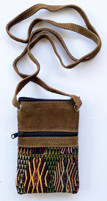 "Cross Shoulder Passport  Pouch Guatemala (5"" x 7"")"