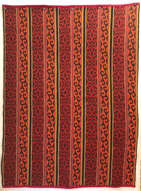 "Handwoven Traditional Tribal Wool Rug Kyrgyzstan (49"" x 66"")"