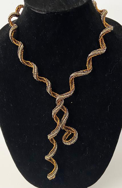 Handmade Beaded Spiral Necklace Guatemala