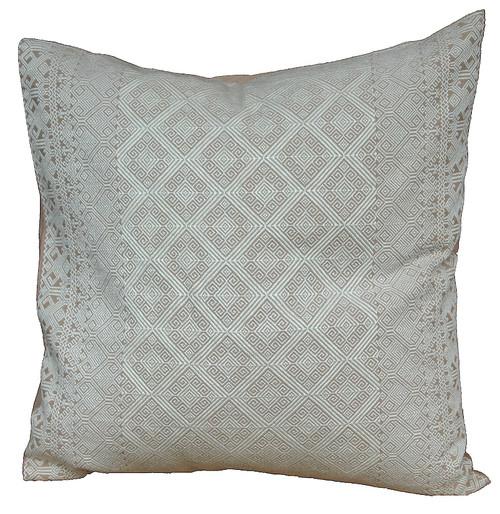 """Handwoven Brocade Cotton Pillow Mexico (20"""" x 20"""")"""