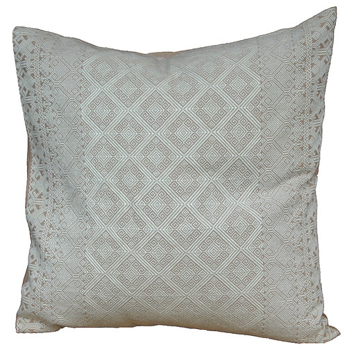 "Handwoven Brocade Cotton Pillow Mexico (20"" x 20"")"