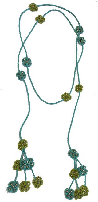 Handmade Beaded Long Strand Necklace Guatemala