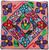 "Handmade Hooked Pillow Cover by Tomasa Guatemala (16"" x 16"")"