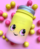 Pink Lemonade Mason Jar Squishy