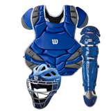 Wilson C1K Catcher's Gear Kit with NOCSAE Approved Chest Protector - Adult