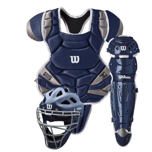 Wilson C1K Catcher's Gear Kit with NOCSAE Approved Chest Protector - Intermediate