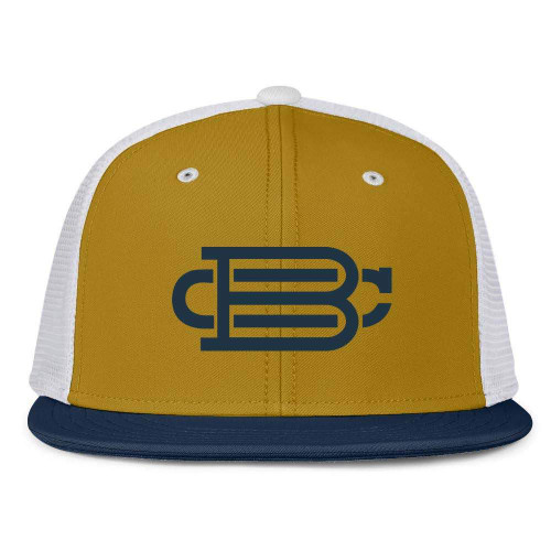 White with Gold Front Fitted BC Hat