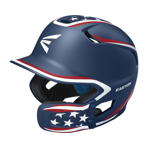 Easton Z5 2.0 Matte Stars and Stripes W/Universal Jaw Guard Helmet