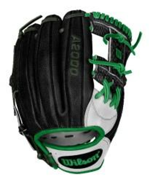 Custom Wilson A2000 1787 Black/Dark Green Snake Skin - BatClub USA Exclusive