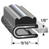 """Decorative Flexible PVC Chrome Snap-On Edge Trim 8100 B-3 X 1/8"""" - Sold by the CONTINUOUS YARD!"""