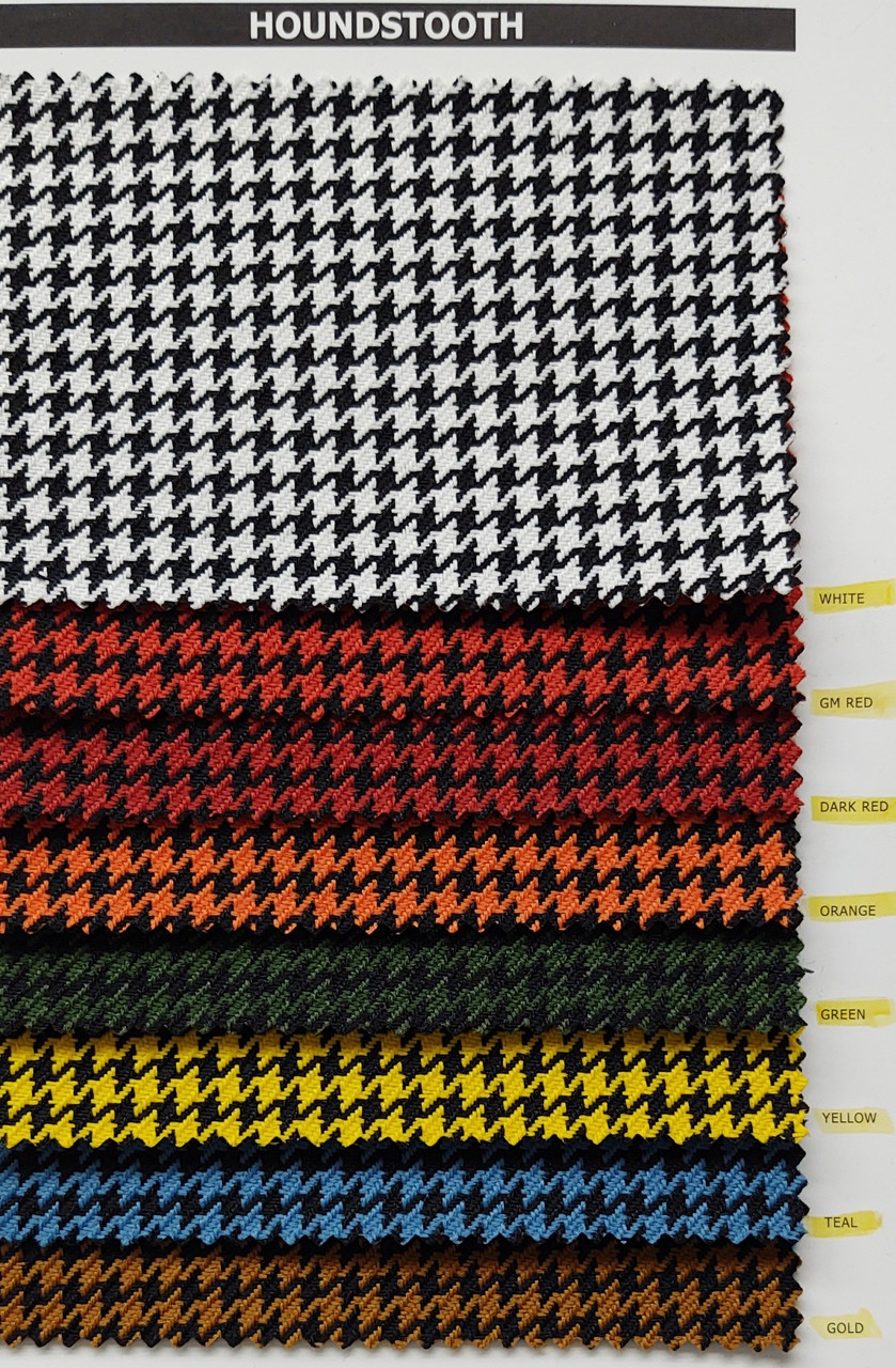 "Houndstooth Gold/Black Cloth 54"" - Sold by the CONTINUOUS YARD!"