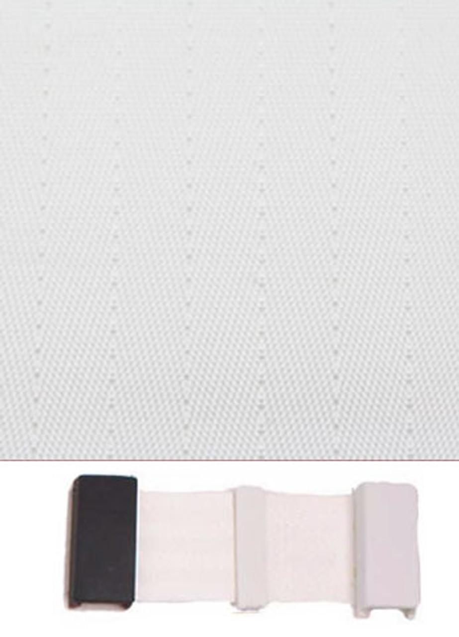 9000 White with Black Plastic Trim