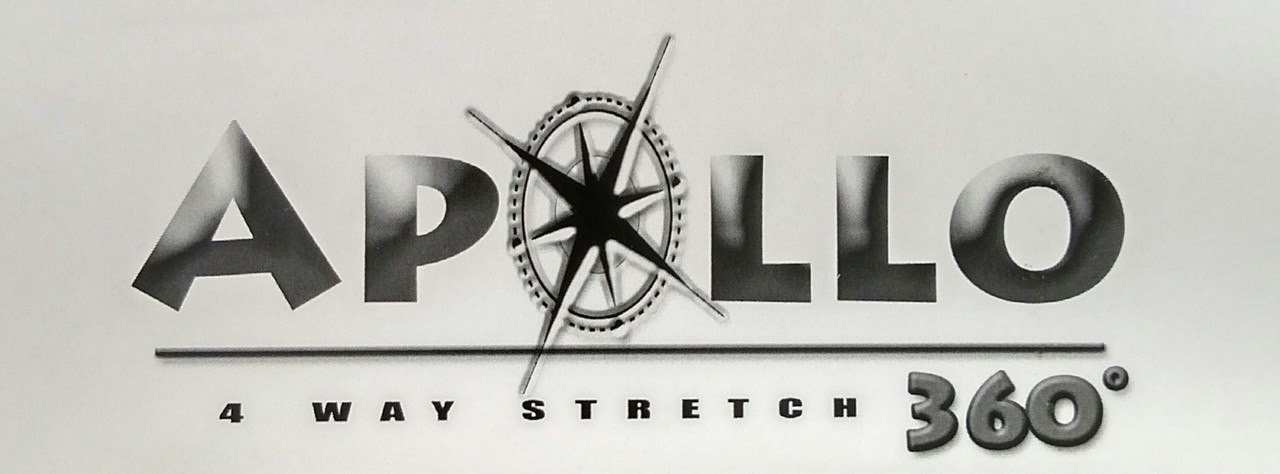 """Apollo 4-WAY STRETCH Whitcap Vinyl 54"""" - Sold by the CONTINUOUS YARD!"""