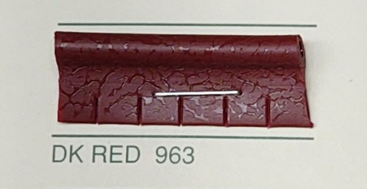 Embossed Snipped Seat Welt Dark Red - Sold by the CONTINUOUS YARD!