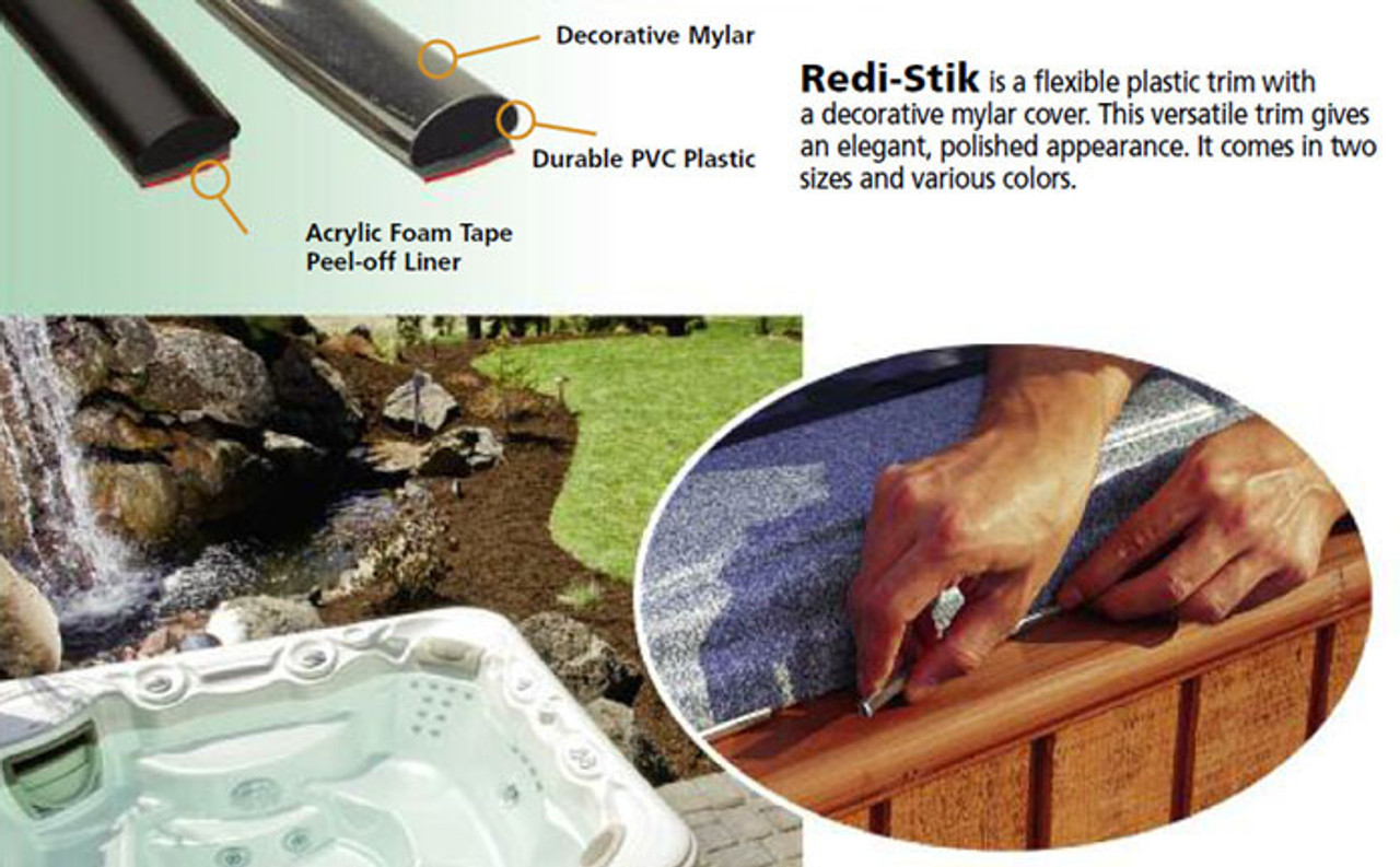 """Redi-Stik Chrome 5/16"""" - Sold by the CONTINUOUS YARD!"""