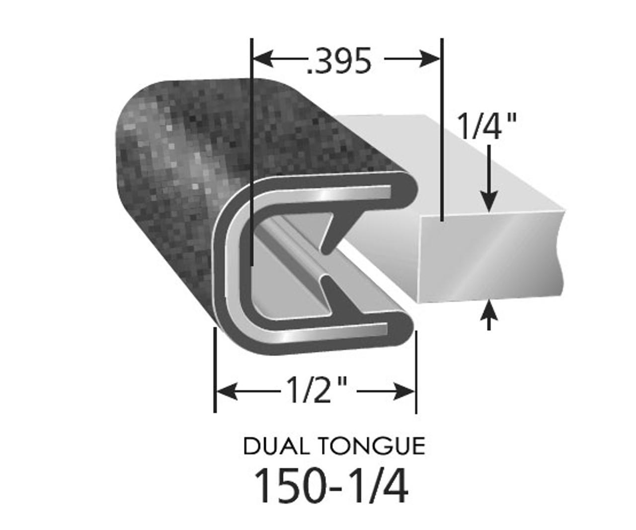 Snap-On Flexible PVC Edge Trim 150 B-2 1/4