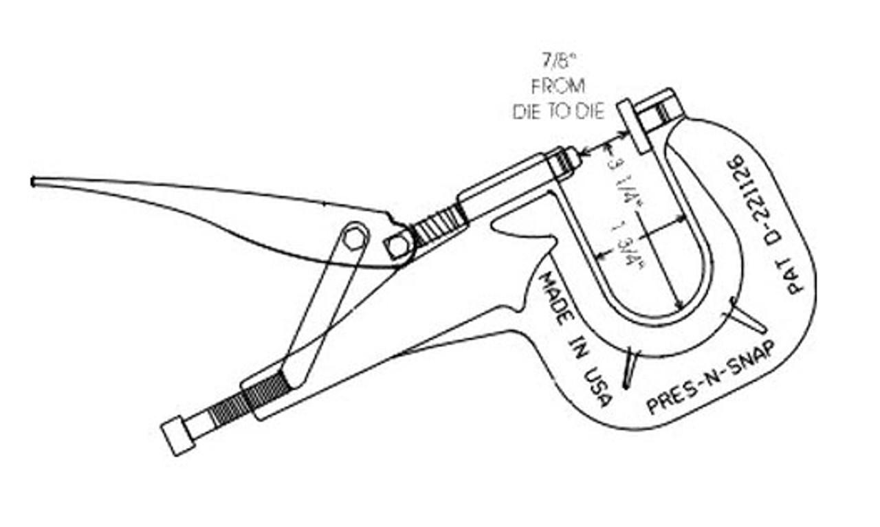 Inside Dimensions of Pres-N-Snap Tool