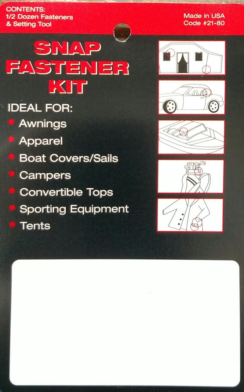24 Snap Fastener Kit