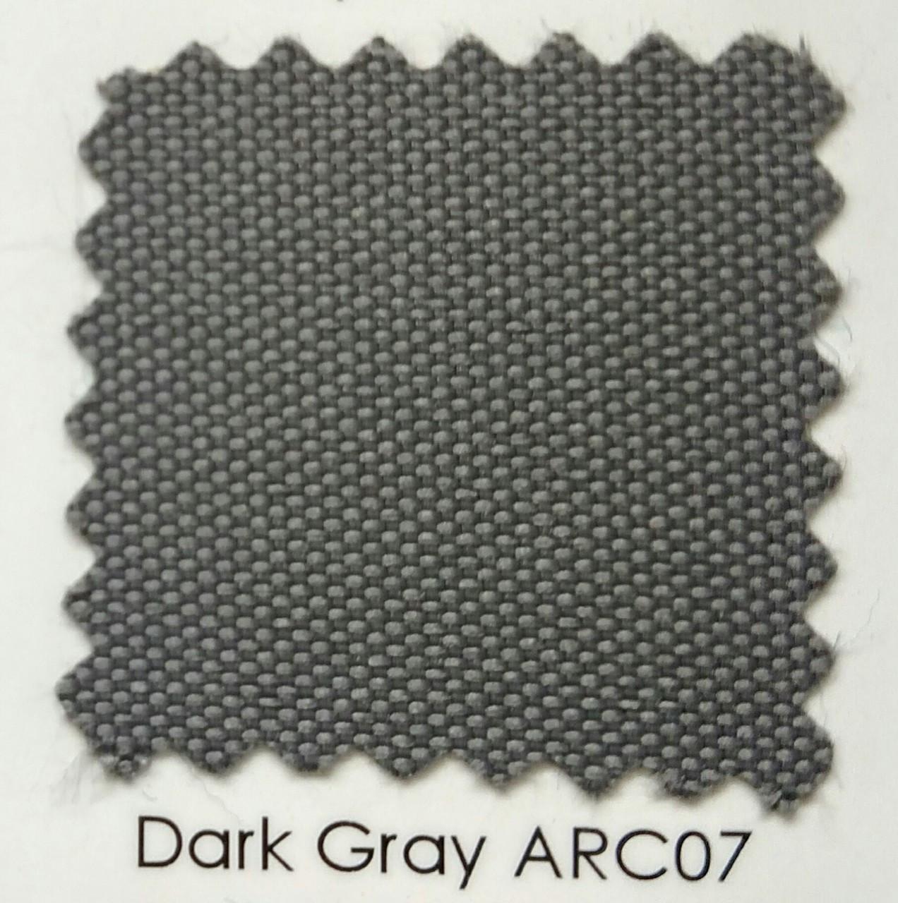 "Arcadia Dark Gray Outdoor Fabric 60"""