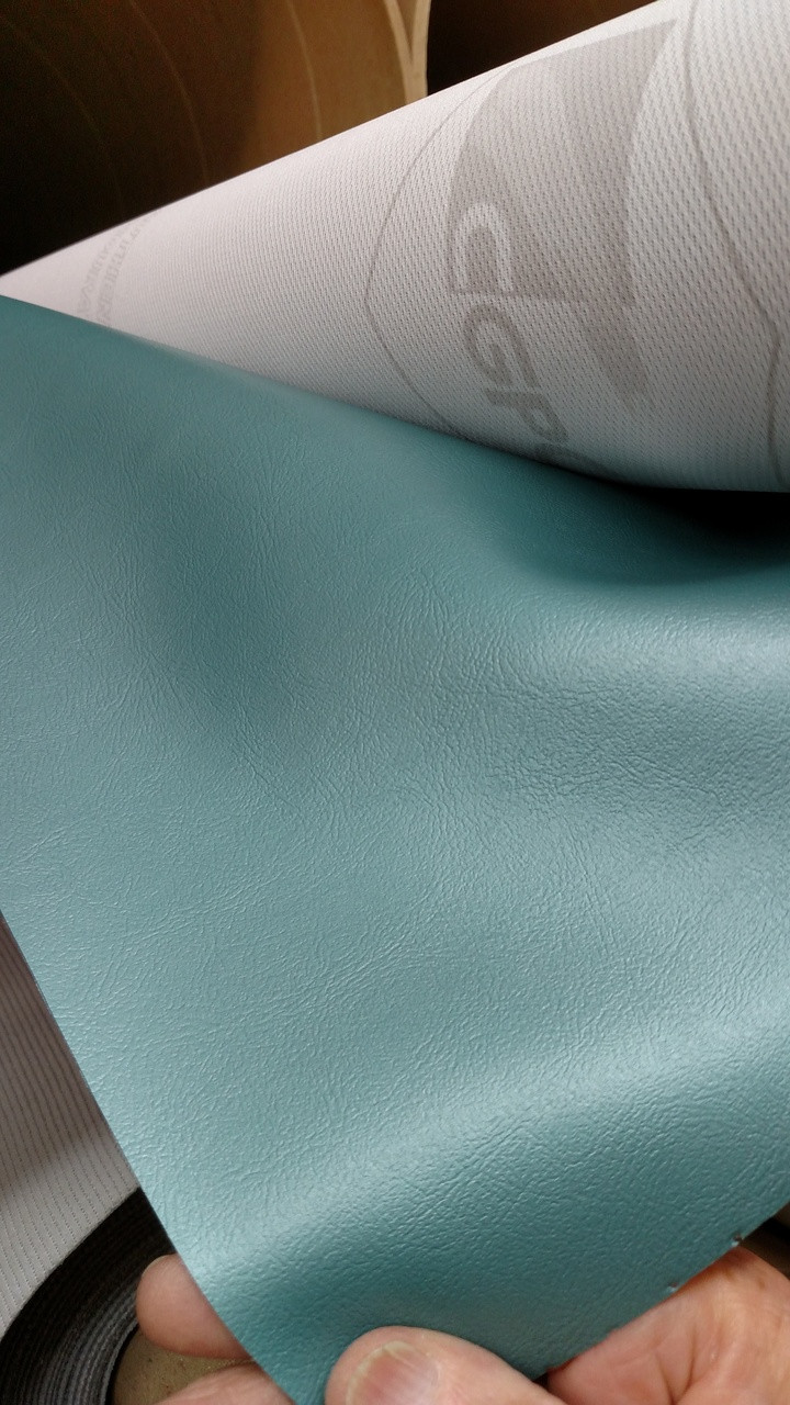 "Sierra SOFT 2929 CLASSIC Metallic Light Turquoise Vinyl 54"" ENDURASOFT - Sold by the Yard"