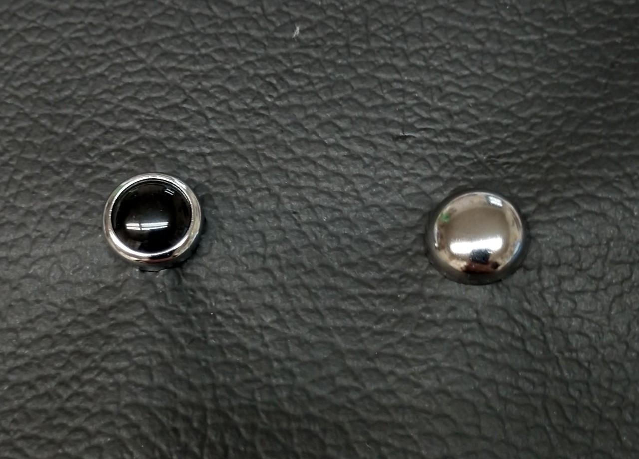 Black Pearl & Chrome Seat Studs