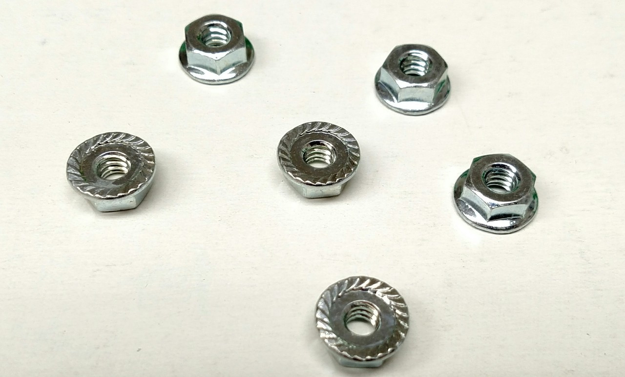 #10-24 Whiz-Lock Nuts stay in place without the use of a washer! Perfect for use with Moulding Fasteners!!!