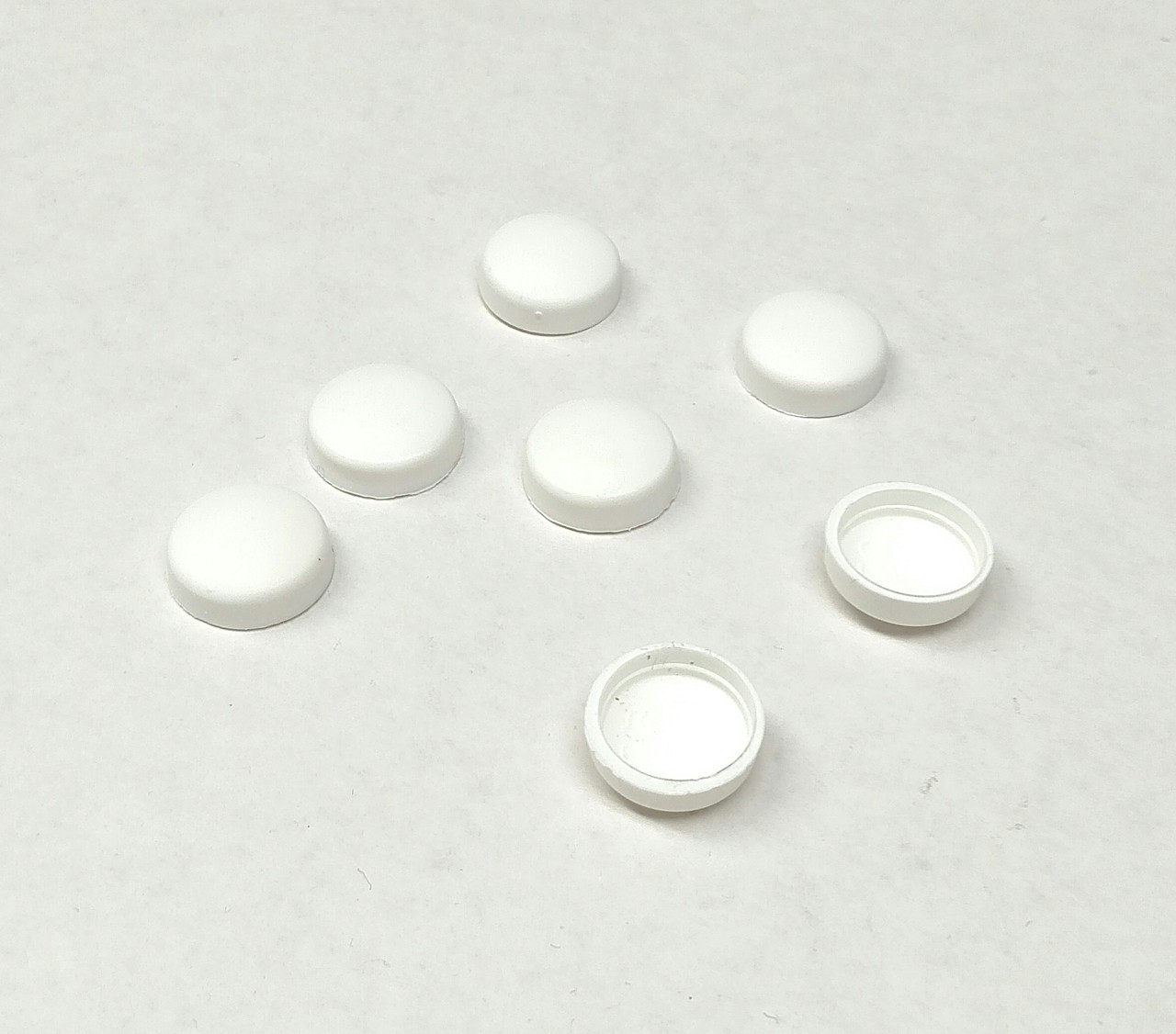 #12 Snap-Cap White & Flat Base/Washer - 25 per Pack