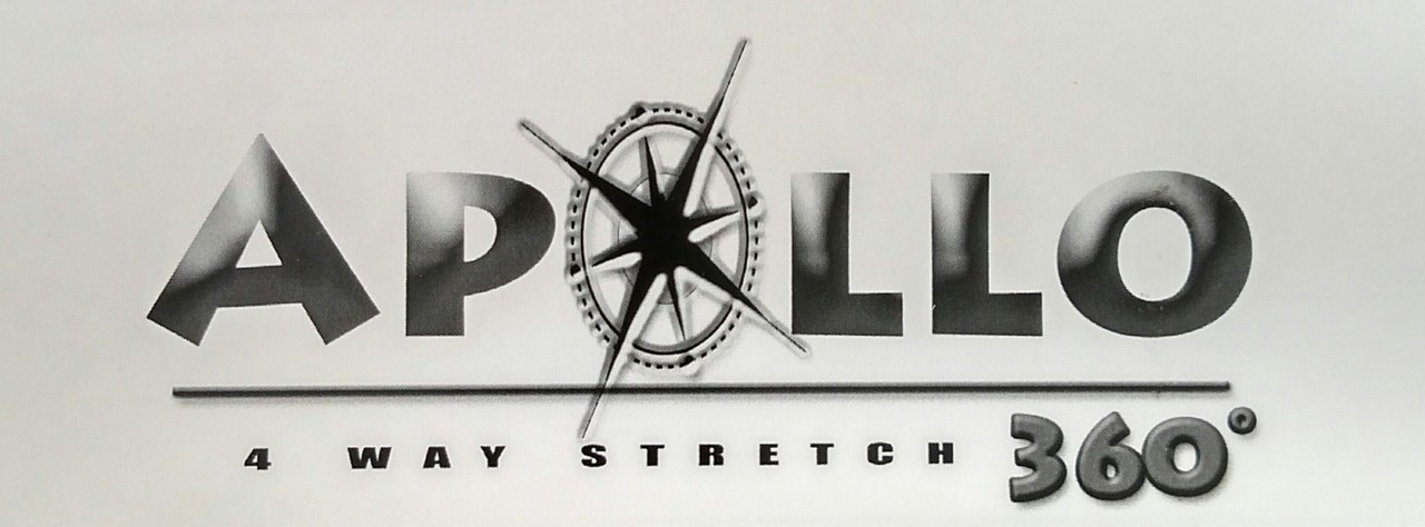 """Apollo 4-WAY STRETCH Black Vinyl 54"""" - Sold by the CONTINUOUS YARD!"""