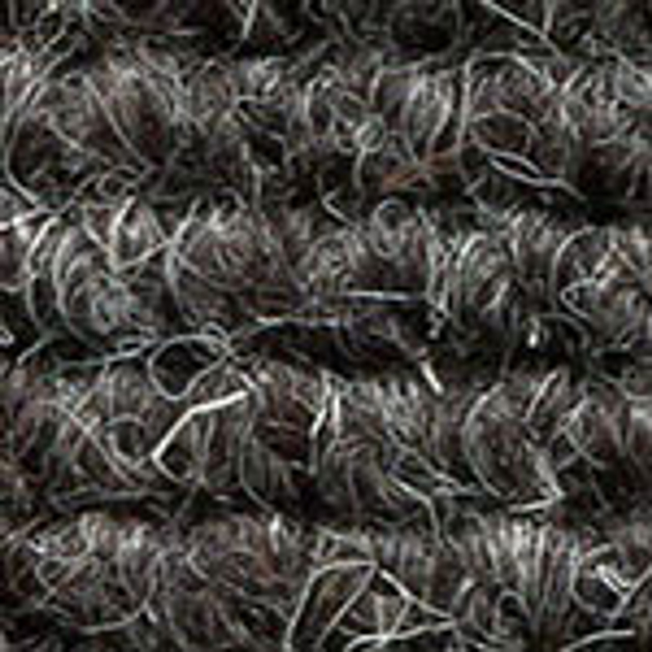"Imported German Wool Square Weave Carpet 77"" - 317 Charcoal"