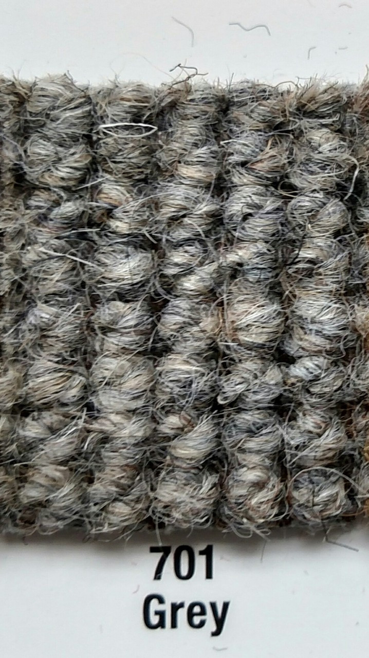 """Imported German Wool Square Weave Carpet 65"""" - 701 Grey*NOTICE*"""