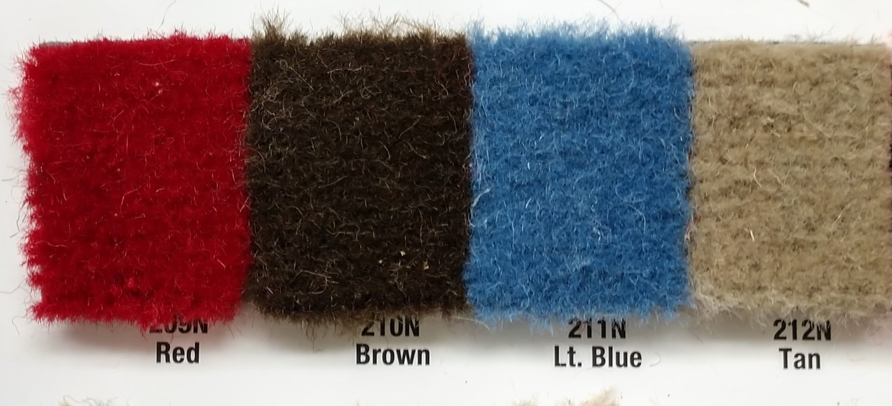 Samples available upon request! / BROWN is in between Red & Lt Blue