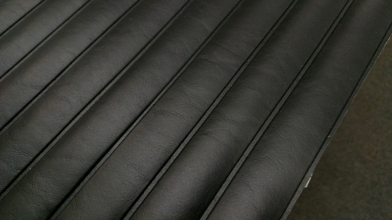 "Seascape Promo Marine Black PLEATED Vinyl 54"" - Sold by the YARD"
