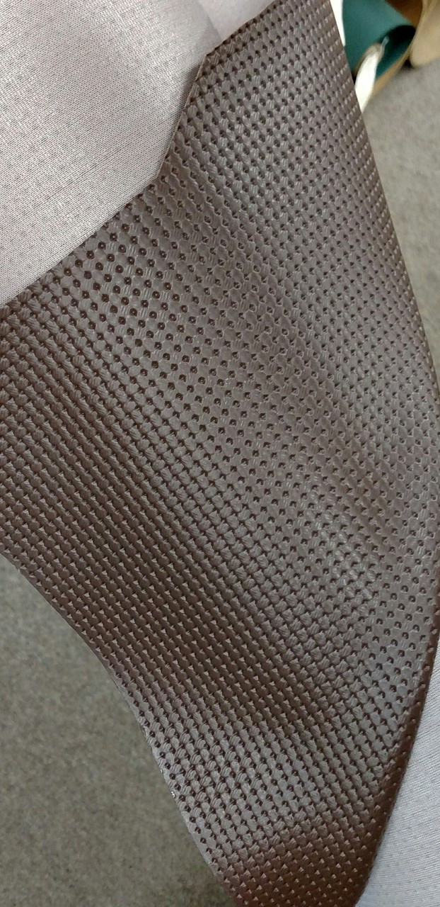 Volkswagen Basketweave Pattern Brown Vinyl 54""
