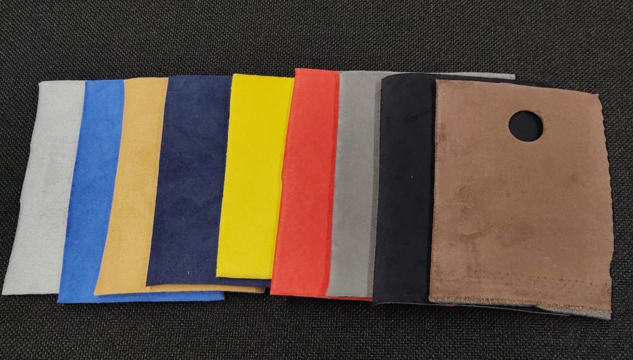 Left to Right... Gray, Royal Blue, Carmello, Navy, Yellow,Crimson,Charcoal,Black, Chocolate
