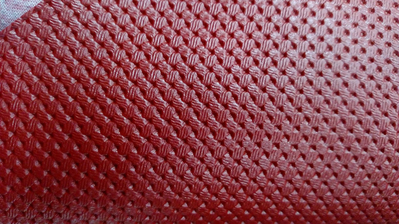 "Volkswagen Basketweave Pattern Red Vinyl 54"" - Sold by the CONTINUOUS YARD!"