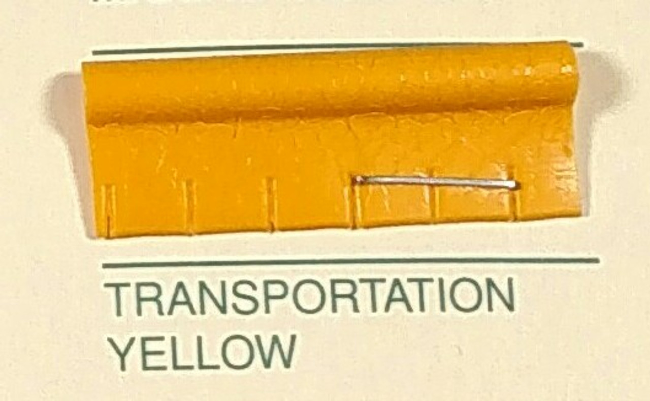 Embossed Snipped Seat Welt Transportation Yellow