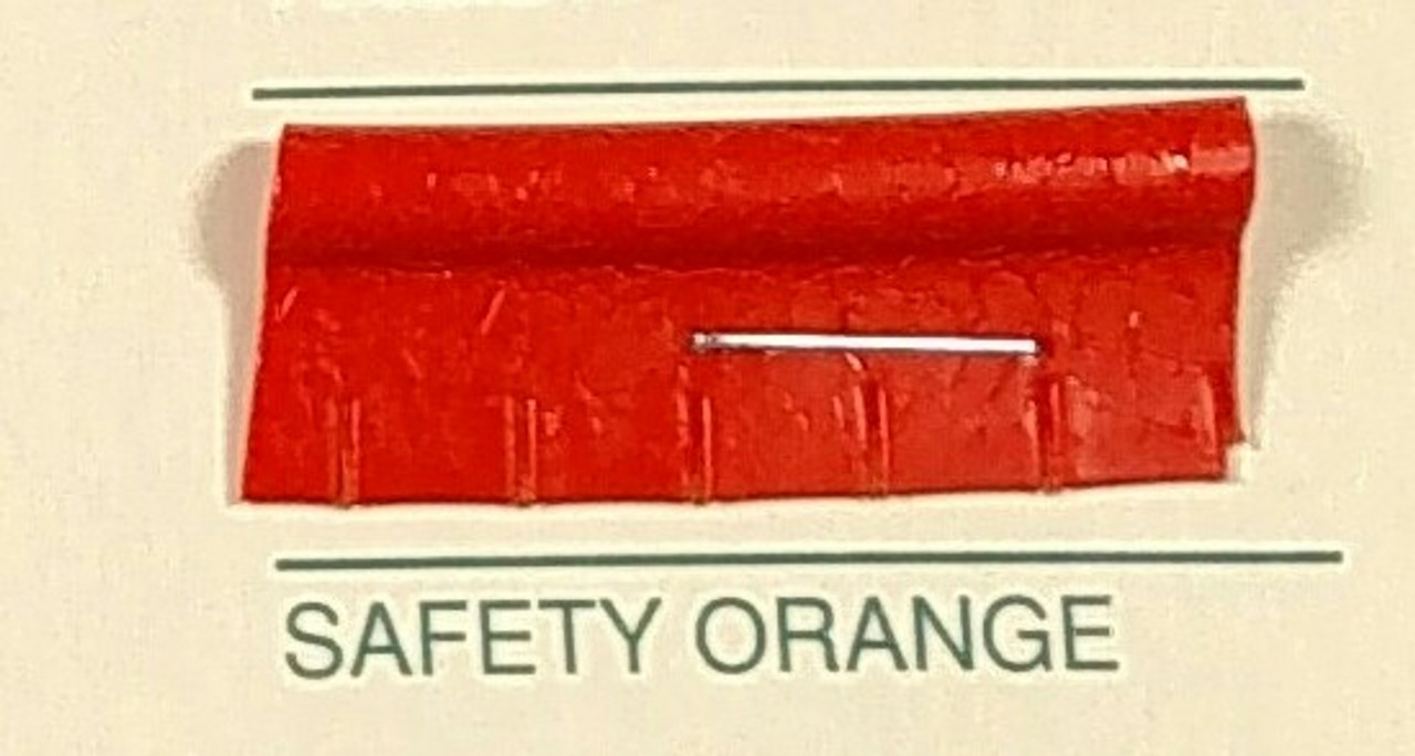 Embossed Snipped Seat Welt Safety Orange