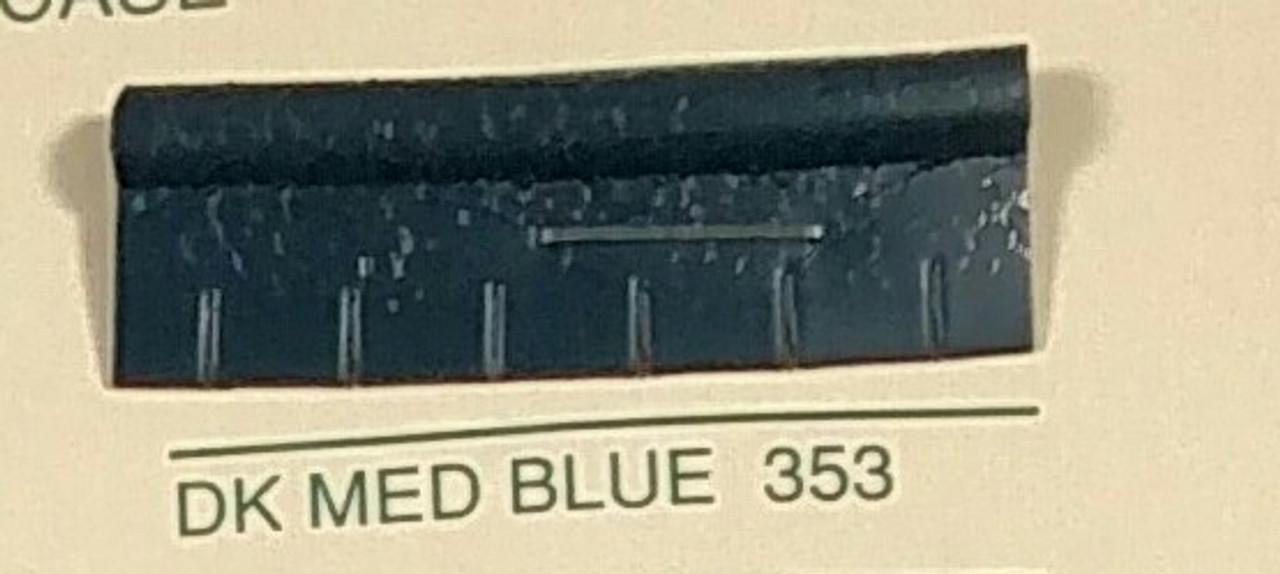 Embossed Snipped Seat Welt Dark Medium Blue