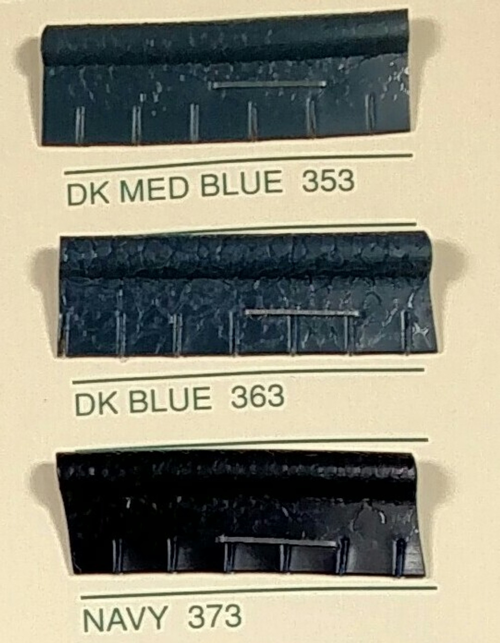 Embossed Snipped Seat Welt Dark Blue - Sold by the CONTINUOUS YARD!!