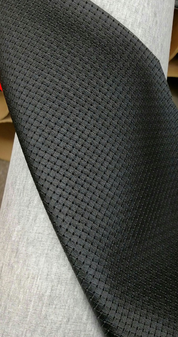 "Woven Pattern Black Vinyl 54"" - Sold by the CONTINUOUS YARD!"