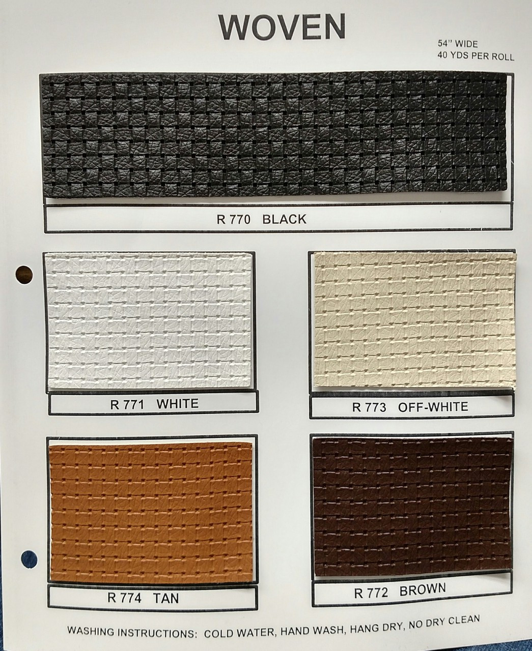 "Woven Pattern Black Vinyl 54"""