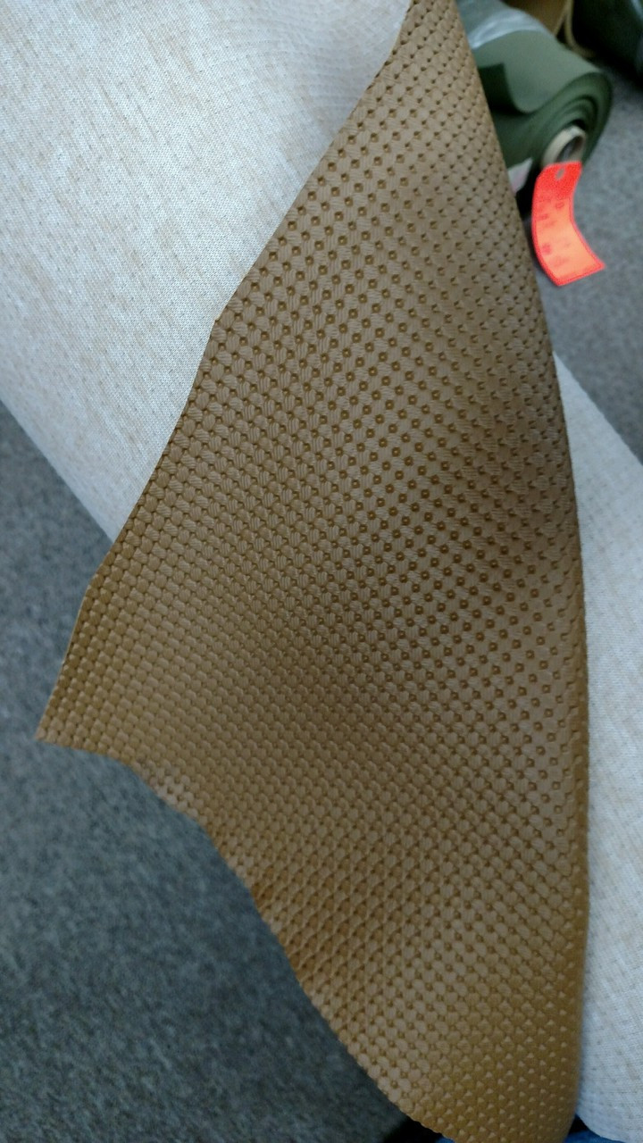 "Volkswagen Basketweave Pattern Ant Beige Vinyl 54"" - Sold by the CONTINUOUS YARD!"