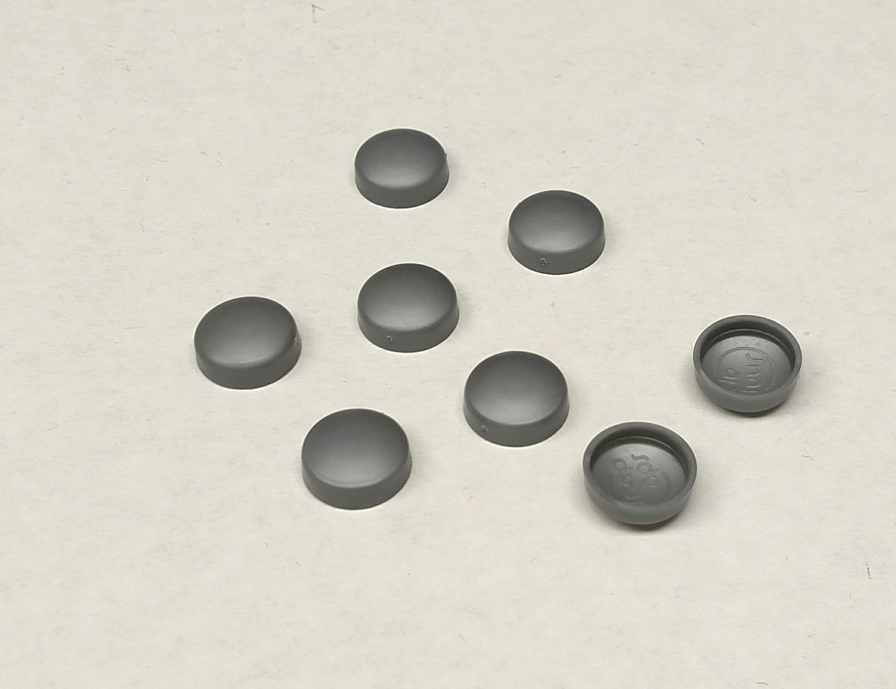#12 Snap-Cap Silver Gray & Flat Base/Washer - 25 per Pack