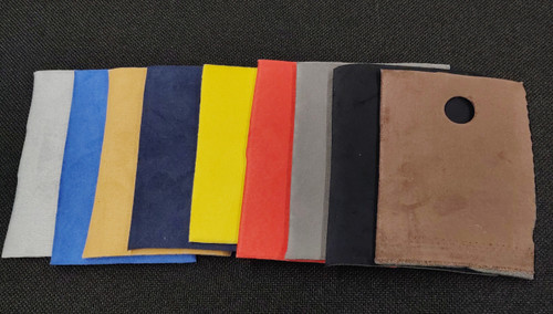 Left to Right... Gray, Royal Blue, Carmello, Navy, Yellow,Crimson,Charcoal,Black, Chocolate