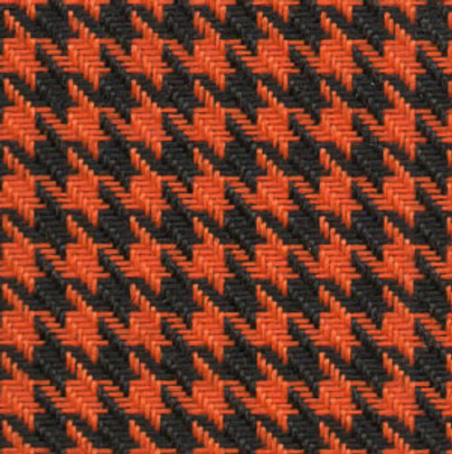 Houndstooth Orange/Black Cloth 54""