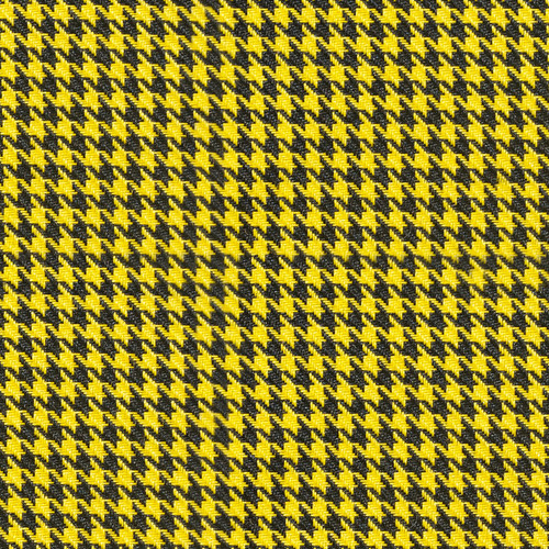 Houndstooth Yellow/Black Cloth 57""