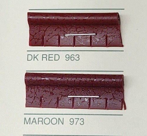 Embossed Snipped Seat Welt Maroon - Sold by the CONTINUOUS YARD!