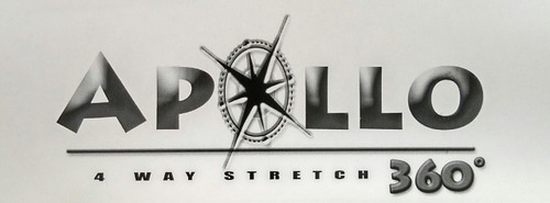 "Apollo 4-WAY STRETCH Whitcap Vinyl 54"" - Sold by the CONTINUOUS YARD!"