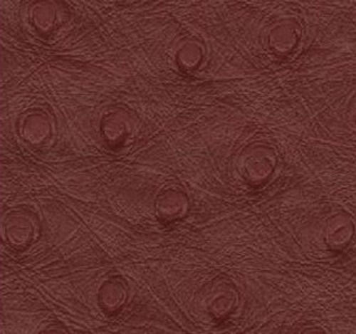"JJ Ostrich Burgundy Vinyl 54"" - Sold by the YARD!"
